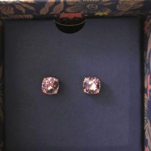 Long weekend Tory Burch crystal stud earrings